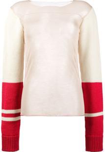 Calvin Klein 205W39Nyc Blusa Com Mangas Contrastantes - Estampado