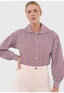 Camisa Polo Ralph Lauren Listrada Bordô