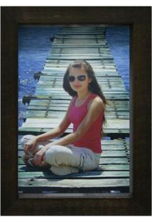 Porta-Retrato Caixa Color Imbuia 10X15Cm