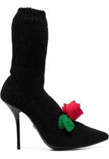 Dolce & Gabbana Bota De Tricô - Preto