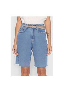 Bermuda Jeans Dress To Reta Vintage Azul