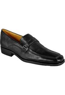 Sapato Social Loafer Sandro Moscoloni Merlot Masculino - Masculino-Preto