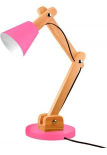 Luminária De Mesa Para 1 Lâmpada Bivolt Cone Raspberry