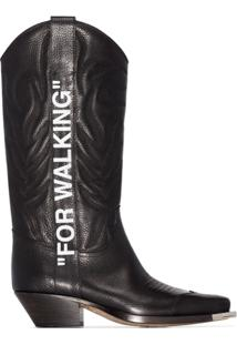 Off-White Bota Cowboy For Walking - Preto