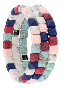 Isabel Marant Bracelete Com Contas - Azul