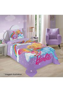 Jogo De Cama Barbie® Reinos Mágicos Solteiro- Lilás & Pilepper