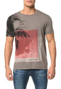 Camiseta Ckj Mc Estampa Coqueiro Manga - P