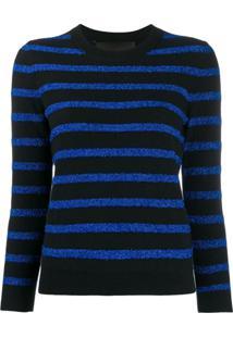 Marc Jacobs Glitter Stripe Jumper - Azul