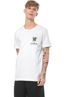 Camiseta Ed Hardy Black Rose Bleeding Branca