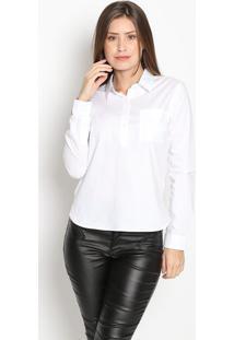 Camisa Lisa- Branca- Guessguess