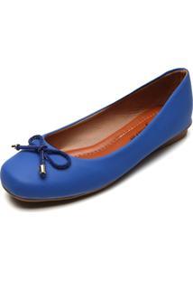 Sapatilha Bellysharm Bico Quadrado Azul