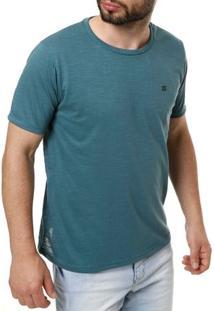 Camiseta Manga Curta Masculina Verde Escuro