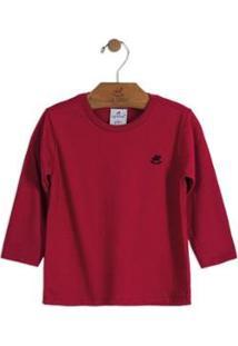 Camiseta Bebê Meia Malha Up Baby Masculina - Masculino-Vermelho