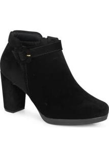 Ankle Boots Feminina Mini Fivela Preto