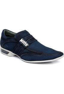 Sapato Casual Masculino Couro Nobuck Nevano - Masculino