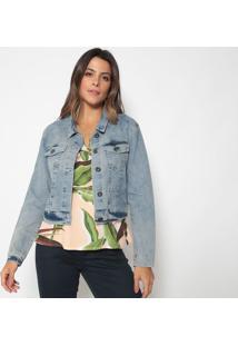 Jaqueta Jeans Com Bolsos- Azul- Doctdoct