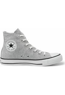 Tênis Converse All Star Chuck Taylor Ox Couro - Feminino-Cinza