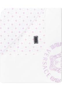 Young Versace Cobertor Com Logo - Branco