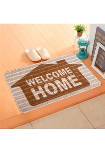 Capacho Carpet Welcome Home Marrom