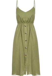 Vestido Midi Alça - Verde