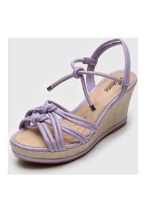 Sandália Dakota Amarração Lilás