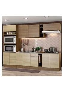 Cozinha Completa Madesa Stella 290001 Com Armário E Balcão Rustic/Saara Cor:Rustic/Saara/Rustic