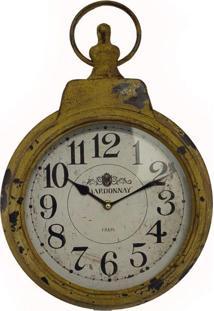 Relógio De Parede Tp Bolso Amarelo Envelhecido Oldway 45X30X7
