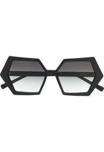 Zeus+Dione Óculos De Sol Hexagon - Preto