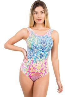 Body Bella Fiore Modas Regata Estampado Ju Azul Claro