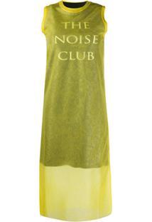 Mcq Alexander Mcqueen Vestido The Noise Club - Amarelo