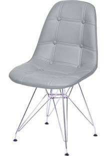 Cadeira Eames Botone Cinza Base Cromada - 53450 - Sun House