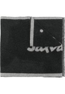 Salvatore Ferragamo Cachecol De Lã Com Padronagem De Logo - Cinza