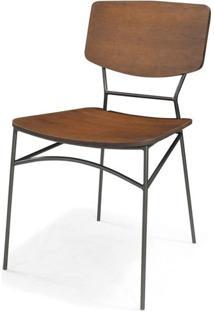 Cadeira Beaver Cor Rustic Brown Com Base Aco Grafite - 46010 Sun House