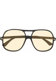 Gucci Eyewear Óculos De Sol Aviador - Preto