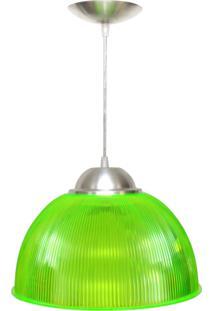 Pendente Prismático Em Acrílico 32Cm Verde Neon Skylux