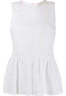 Michael Michael Kors Regata Com Renda Bordada - Branco