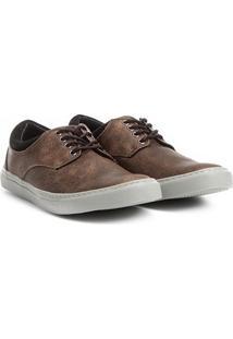 Sapatênis Couro Shoestock Estonado Masculino - Masculino