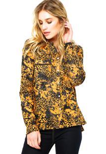 Camisa Manga Longa Ellus Cotton Voil Amarela