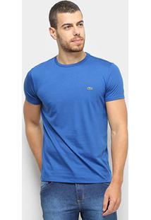 Camiseta Lacoste Básica Jersey Masculina - Masculino-Azul Royal