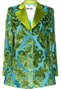 Moschino Tapestry Jacquard-Woven Blazer - Azul