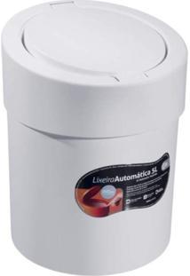 Lixeira Automática 5,0 Litros Branco Coza