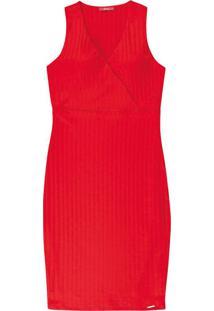 Vestido Curto Com Transpasse Vermelho