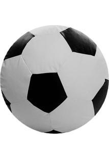 Puff Big Ball Futebol Pop Branco E Preto Stay Puff