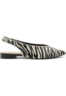 Sapatilha Slingback Zebra | Anacapri
