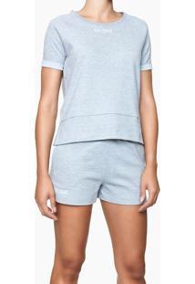 Blusa Feminina Ck One Cinza Mescla Loungewear Calvin Klein - M