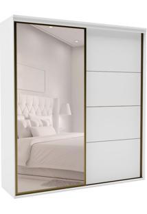 Guarda-Roupa Casal Com Espelho Eleganza Ll 2 Pt 4 Gv Branco