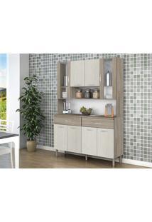 Cozinha 8 Portas Golden Arena/Nogal - Lc Móveis