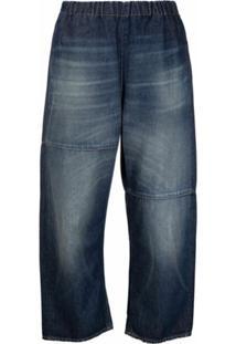 Mm6 Maison Margiela Calça Jeans Com Cós Elástico - Azul