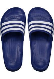 e4b4a710f93b77 Chinelo Adidas Duramo Azul