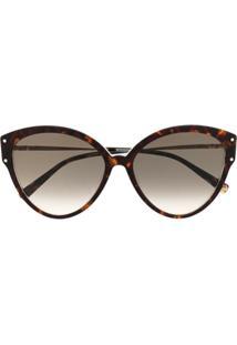 Missoni Eyewear Óculos De Sol Gatinho - Marrom